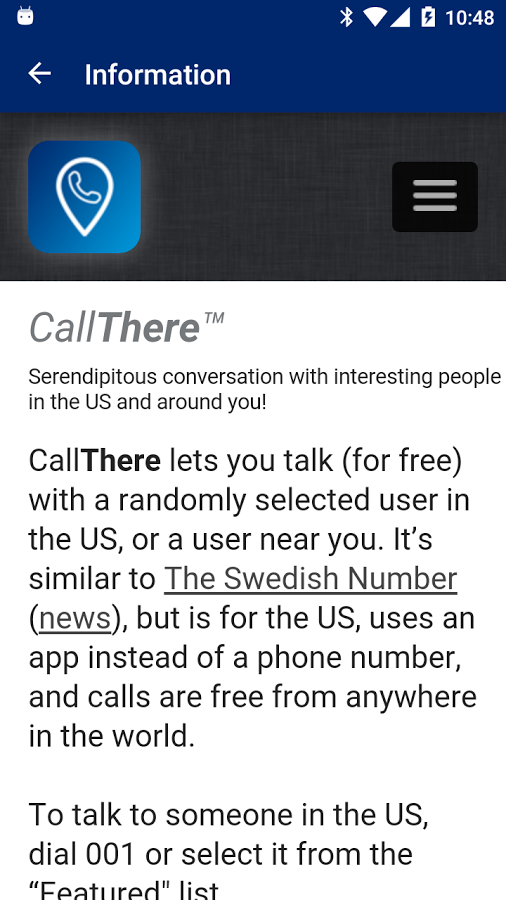 CallThere | Rediscover Conversation – Talk to people near you and